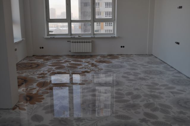 Наливные полы в квартире в люберцах как подобрать краски для покраски стен дома